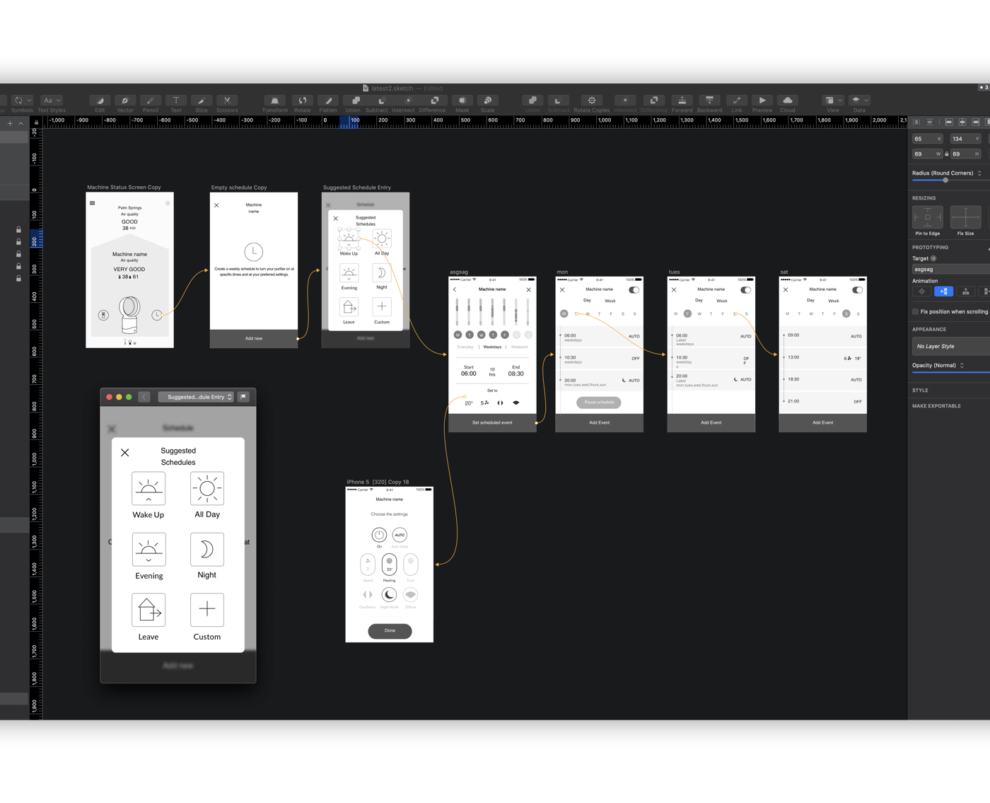 Dyson schedule prototyping