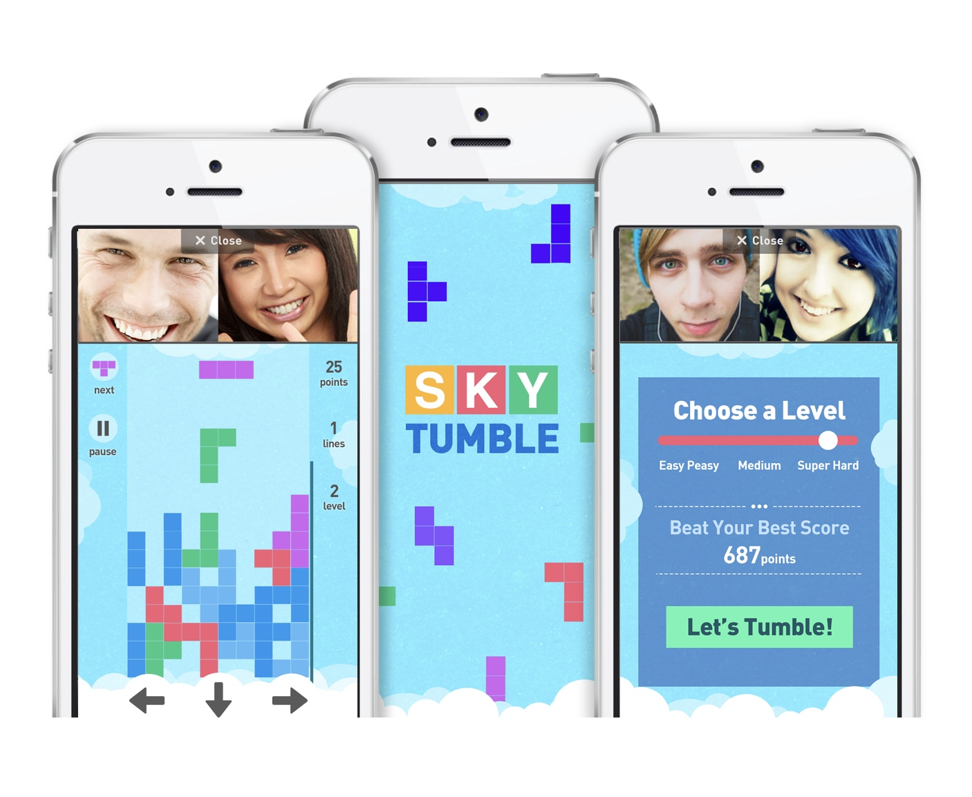 Rounds sky tumble game